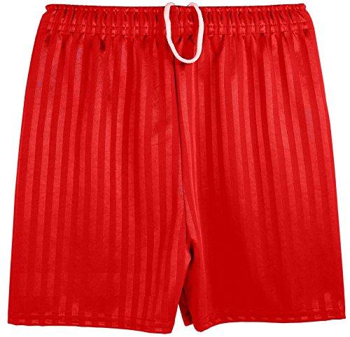 Kinder Unisex Sport- / Fußballshorts, Schattenstreifen rot Bright Red Medium (5-6 Jahre)