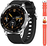 Blackview X1 Montre Connectée Homme Smartwatch Montre Sport Podomètre Cardiofrequencemètre Etanche 5ATM Natation Running Alarme Chronometre GPS Partagé Montre Intelligente pour iOS Android Téléphone