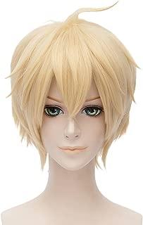 Seraph of the End Cosplay Wig Mikaela Hyakuya Anime Costume Short Wig (Blonde)