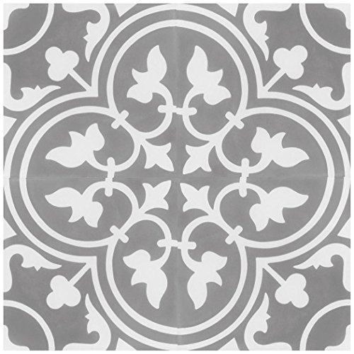 Rustico Tile and Stone RTS15 Roseton D Cement Tile Pack of 13, 8