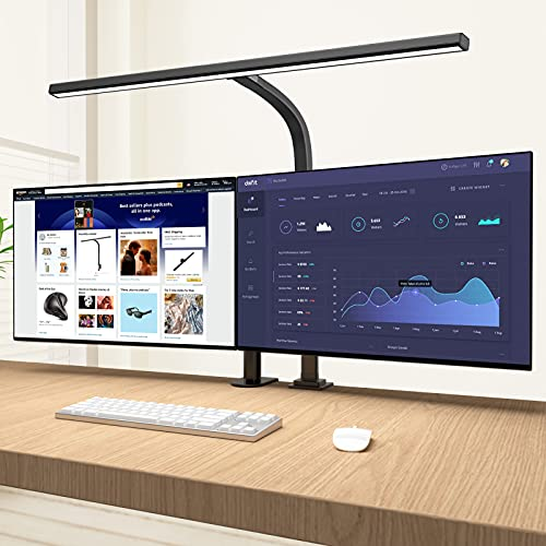 LED Desk Lamp,Eppiebasic Architect Clamp Desk Lamps for Home Office,Brightest Led Workbench Office Lighting- 6 Color Modes and Stepless Dimming Modern...