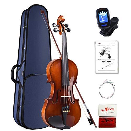Aileen Violin 4/4 Erwachsene, Geige Anfänger Glänzendes antikes Erscheinungsbild
