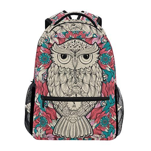 Mochila de Viaje de Doshine, diseño de búho y pájaro, diseño Abstracto de Flor, Bolso de Hombro, Mochila Escolar para Hombres, Mujeres, niños y niñas