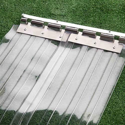 LSXIAO Tenda Isolamento Tenda A Strisce in PVC Costine 0,67 Pollici Impermeabile Riduzione del Rumore Porta Divisoria for Ufficio, Cella Frigorifera (Color : Chiaro, Size : 8pcs 1.2x2.5m)