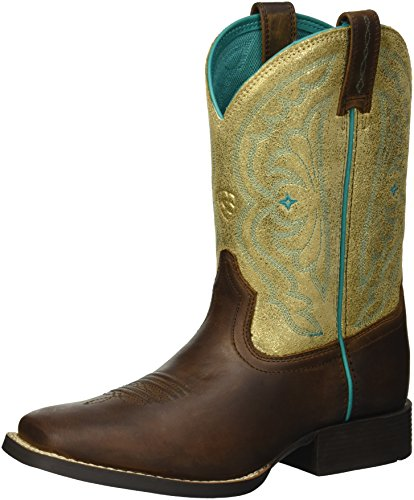 ARIAT Unisex-Kinder Quickdraw Cowboy-Stiefel, Braun, Used-Optik, 32 EU