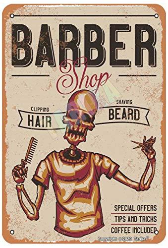 Barber Shop - Cartel decorativo para decoración de pared, diseño retro de 20 x 30 cm, para el hogar, cocina, baño, granja, jardín, garaje, citas inspiradoras, decoración de pared