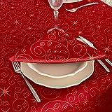 Bg Europe Tovaglioli con stelle di Natale di alta qualità; Ref. Christmas Star Red, Trattamento anti macchia, colore rosso (6 tovaglioli 18 x 18' 45 x 45cm)