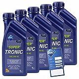 5x 1 L Liter ARAL SuperTronic 0W-40 Motoröl inkl. Ölwechselanhänger