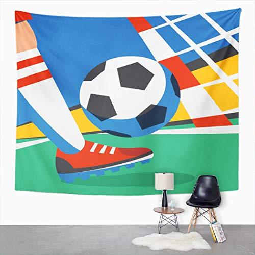 Y·JIANG Tapiz deportivo, para el estadio de fútbol, para el hogar, dormitorio, 203,2 x 152,4 cm