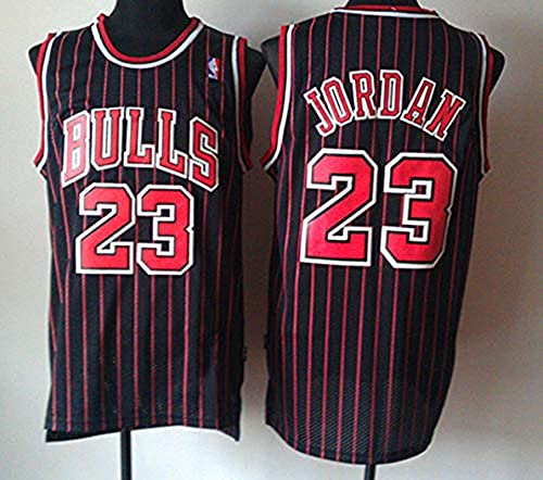 Zhao Xuan Trade Jersey Bulls Masculino Campeón de la NBA Vintage Michael Jordan Jersey Chicago Bulls # 23 Jersey de Baloncesto Swingman de Malla (Negro, M)