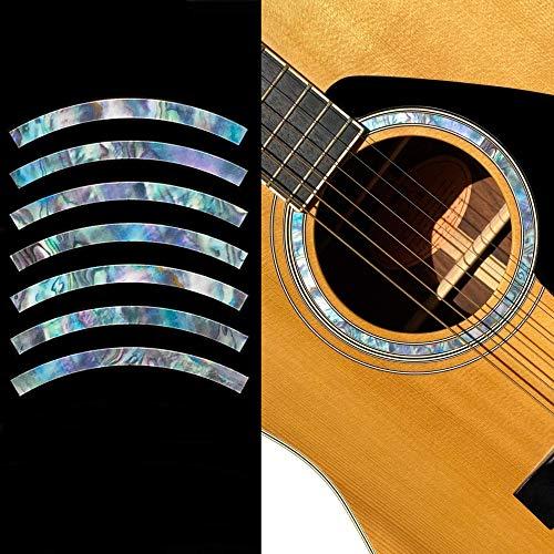 buenos comparativa Pegatinas de guitarra acústica, incrustaciones, rosetas, rayas, ojales y opiniones de 2021