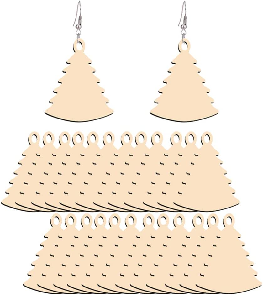 OFFicial site TOYANDONA 50pcs Wooden Popularity Cutouts for Crafting Wood Geometric Tree