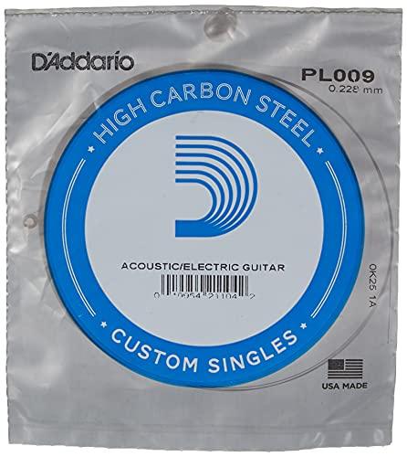 d'Addario PL009 Corda Singola Elettrica-Acustica Plain Steel