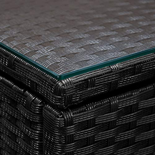 Deuba Poly Rattan Aluminium Lounge Set Schwarz kaufen  Bild 1*