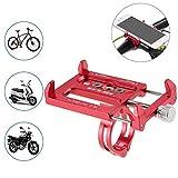 Lixada Aleación de Aluminio de la Bicicleta Todos los Fines de Soporte para Teléfono Handbar Gancho para Base de Soporte de Montaje (Rojo)