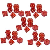 NEHARO Juego de Dados de Juguetes educativos Juego de tableros de Resina múltiple Dice Dice DICIO Digital SIGE Set Game SBOTS Dice Set (5 STS) Suministros para la Fiesta (Color : Red, Size : 20mm)