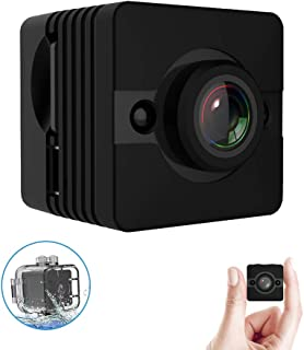 Spy Camera Mini Hidden Nanny Cam,Tiny Surveillance Security Cameras Cop Cam,Wearable Waterproof Action Cams with Motion Detection and Full HD 1080P Video Recorder for Home Office Drone Indoor Outdoor