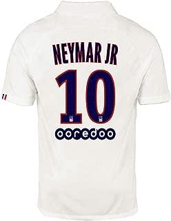PSGTN Paris St Germain Second Away 10 Neymar 2019/2020 Season Mens Soccer Jersey White (S-XXL)