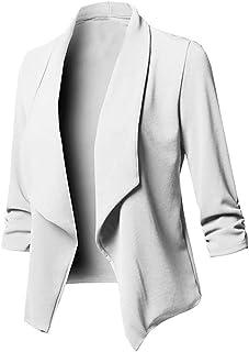 Damen Sakko Cardigan Elegant Blazer Leicht DüNn LäNgere Leichte Jacke Fließt Wunderbar Und Ist SchöN Leicht Locker Fallendes zu Jeans T-Shirt Aber Auch zur Edlen Anzughose Pumps