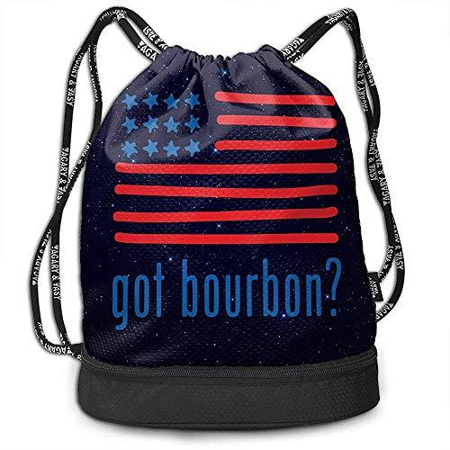 puissant Il y a un sac à dos RJ unique avec des cordons de serrage et un sac de bain unisexe avec des bas de bourbon pour le tourisme sportif …
