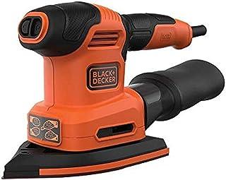 Black+Decker 200W 4-in-1 Multi Sander with Interchangeable Base, Orange/Black - BEW200-GB, 2 Years Warranty