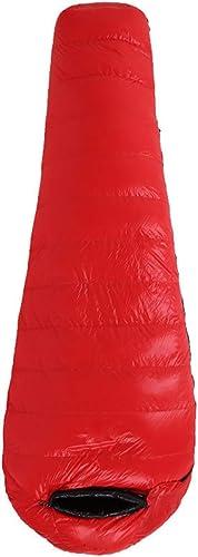 ArougeOVL Sac de Couchage de Camping Confort pour Adultes par Temps Chaud, avec Sac de Compression (Couleur   rouge, Taille   1500g)