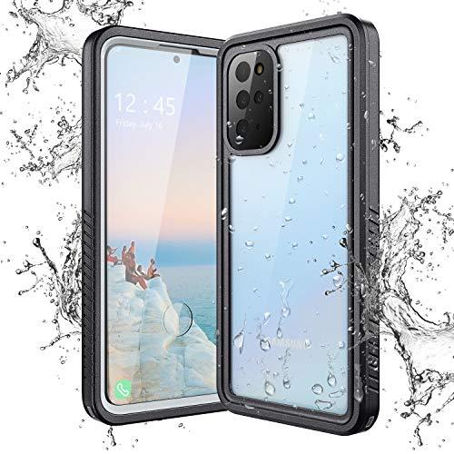 Yokata Funda Impermeable para Samsung Galaxy S20+ Plus, Carcasa Transparente 360 Grados Protección con Protector de Pantalla Anti-Choque Antigolpes Sumergible Resistente Al Agua Funda Móvil Carcasa