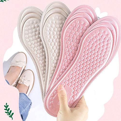 SSMDYLYM 3 pares de plantillas de silicona con tacones altos y soporte de arco para zapatos, almohadillas transparentes para zapatos (talla 35-36)