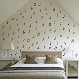 ALiQing Music Notes Wall Decals Vinyl Wall Stickers for Room Decor