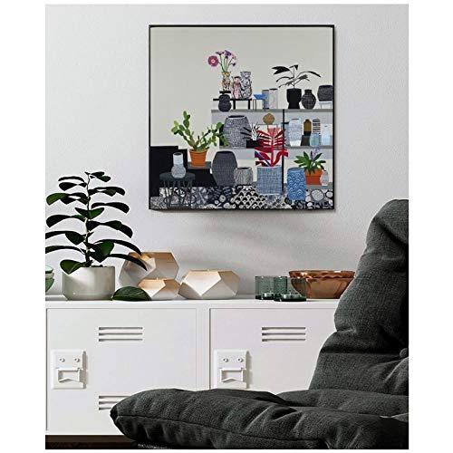 MULMF Stilleven Restaurant Cafe Dessert Shop decoratieve schilderijen posters canvasdruk muurkunst decoratie schilderijen - 50X50cm oningelijst