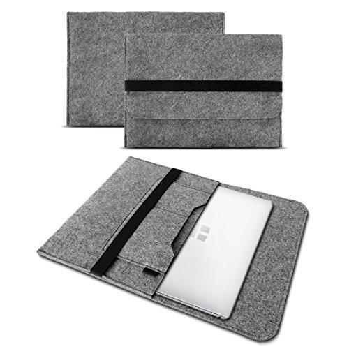 UC-Express Sleeve Hülle kompatibel für Odys Trendbook 14 Pro Tasche Filz Notebook Cover 14' Laptop Schutz Hülle, Farbe:Grau