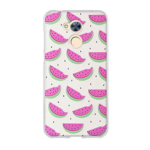 FUBAODA für Huawei Honor 6A Hülle, 3D Niedliche Cartoon Wassermelone, Hochwertigem Stoßfest, Kratzfest, Ultra Dünn Flexiblen TPU Schutztasche Hülle für Huawei Honor 6A (5.0