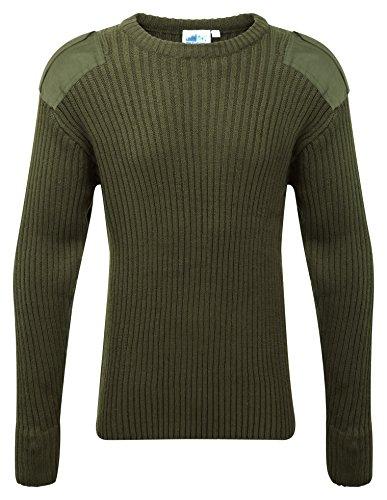 Castle Clothing - Sudadera con cuello redondo, verde, 120