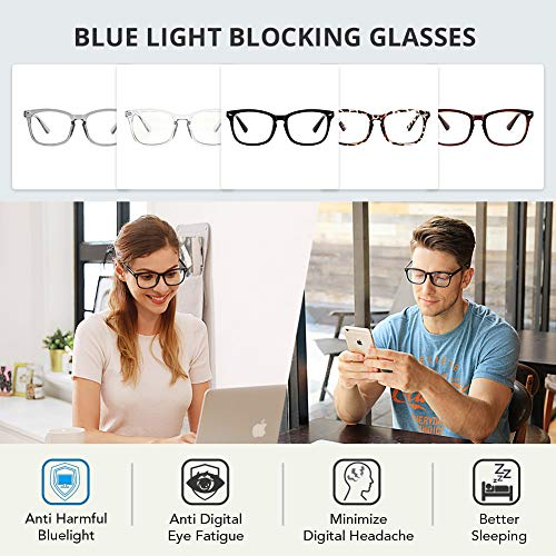 51qwnFIHitL - Cyxus Blue Light Filter Computer Glasses for Blocking Headache [Anti Eye Eyestrain] Transparent Lens Gaming Glasses, Unisex (Men/Women)