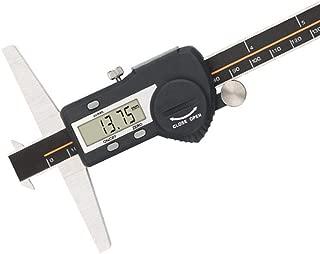 BAOSHISHAN Digital Double Hook Caliper Electronic Depth Gauge Inch/Metric Stainless Steel IP54 Waterproof with USB Port 300mm/11.81in Range 0.01mm/0.0005inch Resolution