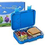 My Vesperbox – Kinder Bento Box - Lunchbox mit 4+2 Fächern - extrem robust und auslaufsicher – Brotdose – Brotbox ideal für Kindergarten und Schule