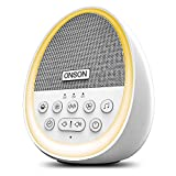 White Noise Machine,ONSON Sound Machine for Sleeping & Relaxation, with Baby Soothing Night Light, 29 High Fidelity Nature Sounds, Sleep Sound Therapy for Home, Office, Travel, Baby, Kids and Adults