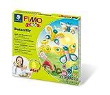Staedtler FIMO Kids, Coffret Form & Play 'Papillon' avec 4 pains assortis de pâte FIMO extra-souple de 42 grammes, 1 outil de modelage et 1 décor, 8034 10 LY