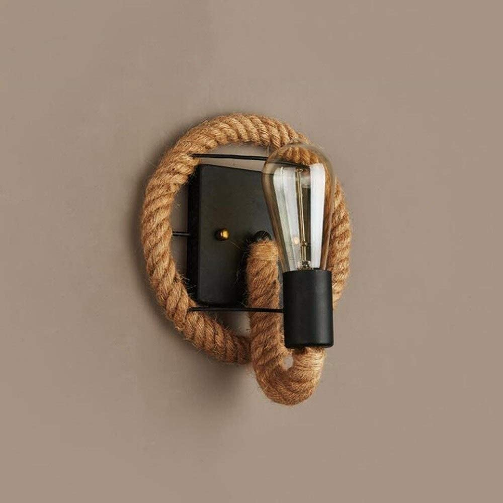 Rekaf Personality Wrought Iron Rope Wall Las Vegas Mall Fixtures Light Brand new Creative