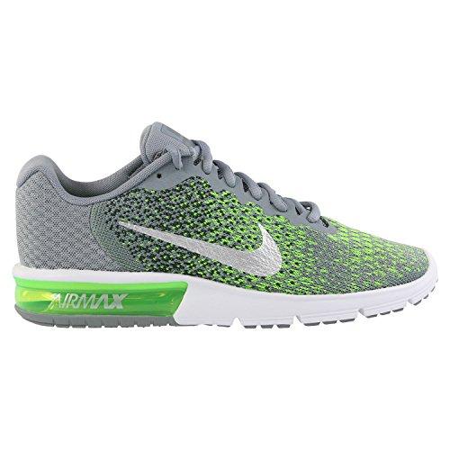 Nike - Air Max Sequent 2 Grigio/Verde Sneaker Corsa Running Scarpe Uomo 852461 003-42.5, 003 Grigio