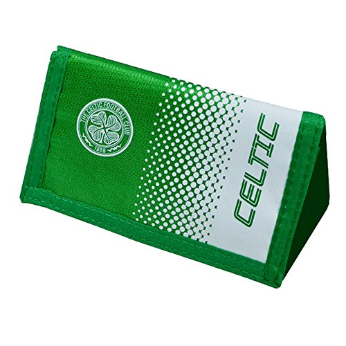 Celtic FC Official Fade Soccer Crest Design Wallet (One Size) (Green/White)