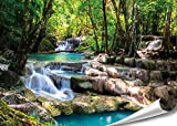 PMP-4life Wand-Bild Wasserfall im Wald, hochauflösendes