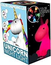 Colour Changing Rainbow Unicorn Mood Night Light