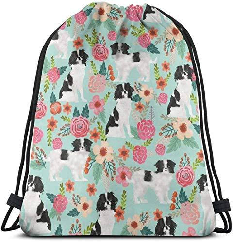 KINGAM Bolsa con cordón – Resistente al agua para perros y mascotas, diseño floral ligero, mochila grande casual para mujer al aire libre para senderismo, yoga, natación, viajes y playa