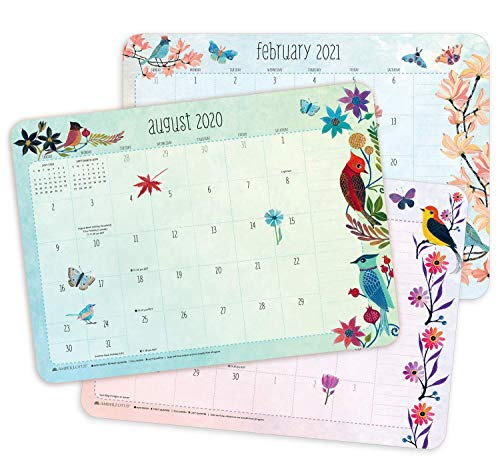 Geninne Zlatkis 2020 - 2021 Desk Pad Calendar (17-Month Aug 2020 - Dec 2021, 18.75' x 13.5')