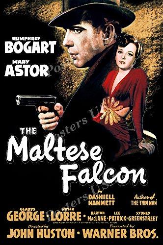 Posters USA The Maltese Falcon Movie Poster GLOSSY FINISH - MOV978 (24' x 36' (61cm x 91.5cm))