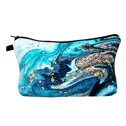 Ocean-Themed Cosmetic Bag