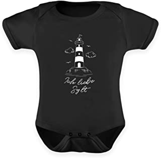 Generisch Ich Liebe Sylt Nordseeinsel Leuchtturm Westerland Strampler Urlaubserinnerung - Baby Body