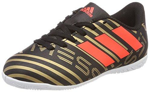 adidas Unisex-Kinder Nemeziz Messi Tango 17.4 IN Fußballschuhe, Schwarz (Core Black/Solar Red/Tactile Gold Metallic), 28 EU