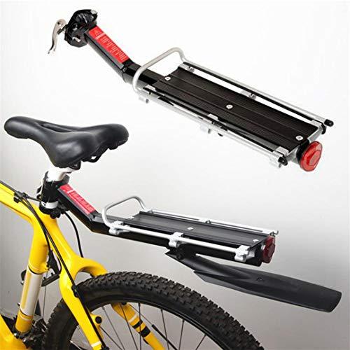 Portaequipajes de aleación de Aluminio de 9 KG, portaequipajes Trasero para Bicicletas, Accesorios de Bicicleta, Estante Trasero de Bicicleta MTB 1set